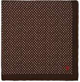 Isaia Men's Dotted Cotton-Silk Pocket Square