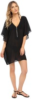 MICHAEL Michael Kors Draped Solids Tunic Cover-Up