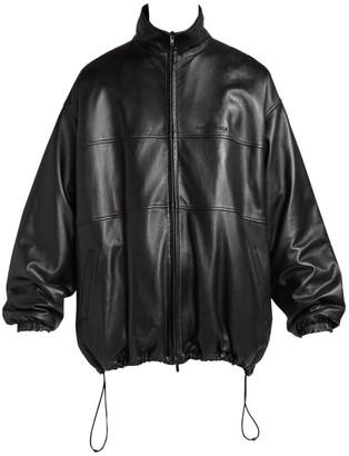 Balenciaga Oversized Leather Track Jacket
