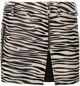 Filles a papa zebra print mini skirt