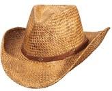 Scala Men's Straw Western Hat - Brown