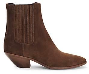 Saint Laurent Women's West Suede Chelsea Boots