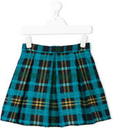 Il Gufo plaid flared skirt