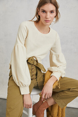 Anthropologie Bayleigh Cropped Top By in White Size XS