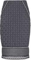 Jonathan Simkhai Pima Quilted Jacquard Pencil Skirt