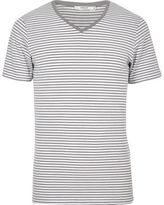 River Island Grey Stripe Jack & Jones Premium T-shirt