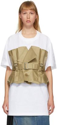 Junya Watanabe White and Beige Trench T-Shirt