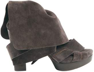 Chloé \N Brown Suede Boots