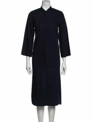 Lemaire Mock Neck Midi Length Dress Blue