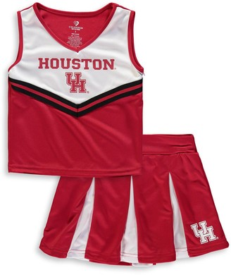 Colosseum Youth Girls Red Houston Cougars Pom Pom Cheer Set