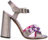 L'Autre Chose embellished sandals - women - Leather/other fibers - 35.5