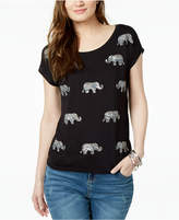 INC International Concepts I.n.c. Embellished Elephant-Graphic T-Shirt, Created for Macy's