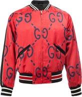 Gucci GucciGhost print bomber jacket - men - Silk/Cupro/Viscose - 46