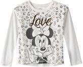 Disney Disney's Minnie Mouse Leopard ''Love'' Top - Girls 7-16