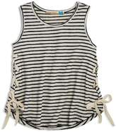 Vintage Havana Girls' Striped Side-Lace Tank