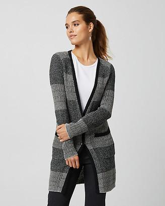 Le Château Textured Knit Button-front Cardigan