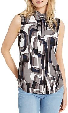 Nic+Zoe Alphabet Printed Tank Top