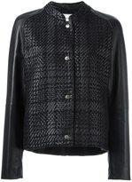 Lanvin checked design bomber jacket - women - Lamb Skin/Polyester/Viscose - 42