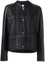 Lanvin checked design bomber jacket - women - Lamb Skin/Viscose/Polyester - 42