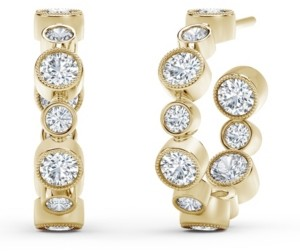 Forevermark Tribute Collection Diamond (1-1/4 ct. t.w.) Hoop Earrings in 18k Yellow, White and Rose Gold.