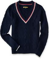Prince & Fox Varsity V-Neck Sweater