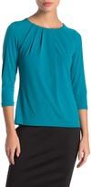 Calvin Klein Quarter Sleeve Jersey Blouse (Petite)