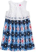 Good Lad Crochet Americana Popover Dress, Little Girls (2-6X)