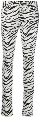Saint Laurent Zebra Print Skinny Jeans