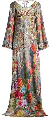 Johnny Was Roxanne Printed Silk Dress