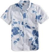 Lrg Men's Rip Tide Stripe Oil Stain Cotton Pocket Shirt