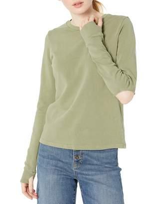Monrow Women's Slashed Sweatshirt w/Thumbhole