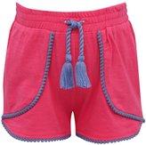 M&Co Pom pom trim petal front shorts