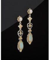 Konstantino 18k & Silver 2.00 Ct. Tw. Agate & 3-4mm Pearl Drop Earrings.