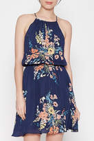 Joie Halter Blue Floral Dress