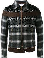 Kolor stylised plaid jacket - men - Wool/Nylon/Cupro - 2