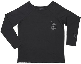 StepArt - Womens Seagull Sweatshirt - SMALL / Used Black