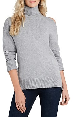 1 STATE Cutout Shoulder Turtleneck Sweater