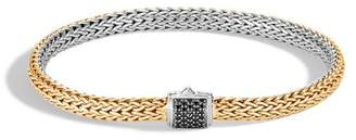 John Hardy Classic Chain Reversible Bracelet With Black Spinel