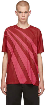 Issey Miyake Red Wrinkle T-Shirt