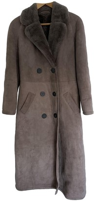 Burberry Brown Shearling Coat for Women Vintage