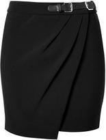 Black Wrap Effect Skirt
