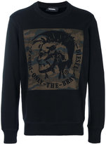 Diesel patch detail sweatshirt