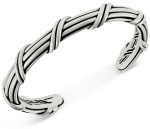 Peter Thomas Roth Overlap Cuff Bangle Bracelet in Sterling Silver