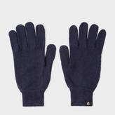 Paul Smith Men's Navy Merino Wool Gloves