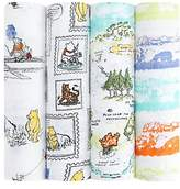 Aden Anais Aden + Anais Disney Winnie The Pooh Baby Swaddle Blanket, Pack of 4