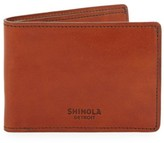 Shinola Slim Leather Bi-fold Wallet