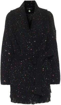 Alanui Starry Night sequined wool and silk cardigan