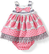 Rare Editions Baby Girls 6-24 Months Mixed-Media Scalloped-Lace Sleeveless Dress