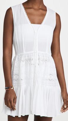 Playa Lucila Eyelet Mini Dress