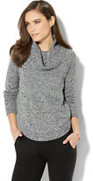 New York & Co. Lounge - Lurex Marled Cowl-Neck Sweater